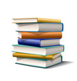 stack blue and yellow books books various vector image vector image