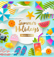 summer holidays and beach vacation design vector image