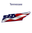 tennessee full american flag vector image