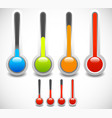 thermometer set cold hot temperature weather vector image