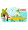 travel airport vacation holiday tour at summer vector image vector image