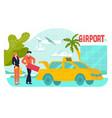 travel airport vacation holiday tour at summer vector image vector image