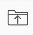 upload file data icon isolated on transparent vector image vector image
