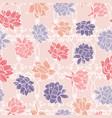 waterlilies or lotus flowers on garden ornament vector image vector image