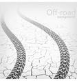 winding trace terrain tyres vector image