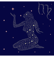 Zodiac sign Virgo on the starry sky vector image vector image