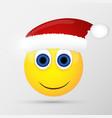 Santa emoticon emoji smiley vector image