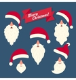 Christmas clothes collection of Santas hats with vector image