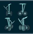 airplane landing gear vector image vector image