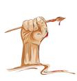 artists fist vector image