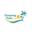 Beach boat travel holiday logo