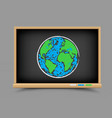 blackboard earth lesson vector image vector image