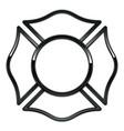 blank fire department logo base black chrome trim vector image vector image