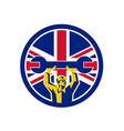 british mechanic union jack flag icon vector image vector image