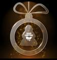 brown christmas card vector image