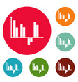 business diagram icons circle set vector image vector image