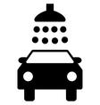 Car Shower Flat Symbol vector image vector image