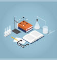 chemistry homework isometric vector image vector image