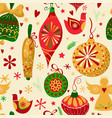 christmas ornaments seamless pattern vector image