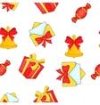 Christmas presents pattern cartoon style vector image