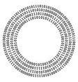 circle shape of zero one vector image