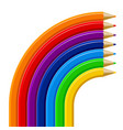 color pencils rainbow template isolated on white vector image