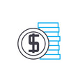 company budget thin line stroke icon vector image vector image