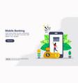 concept mobile banking modern conceptual for vector image