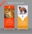 creative rollup banner with rusty orange look vector image vector image