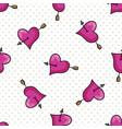 cute heart with arrow cartoon seamless vector image vector image