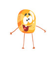 cute pancake character cartoon funny dessert vector image vector image