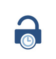 delay lock padlock password secure time icon vector image vector image