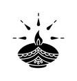 diwali festival black glyph icon vector image