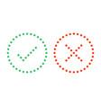 dots check mark icons vector image vector image