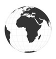 earth globe focused on africa continent