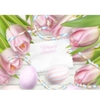Easter eggs on wood background EPS 10 vector image vector image