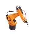 factory robot icon vector image vector image