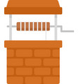 farm water well icon flat isolated vector image vector image