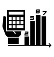 finance chart icon simple style vector image