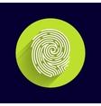 Fingerprint icon finger print id theft vector image