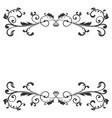 floral decoration black ornamental divider vector image