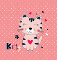 funny cat for kids design vector image vector image