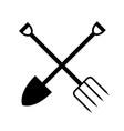 garden fork and shovel vector image vector image