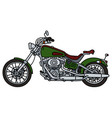 green heavy chopper vector image vector image