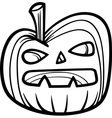 halloween pumpkin for coloring book vector image vector image
