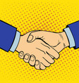 hand showing handshake deaf-mute gesture human arm vector image vector image
