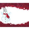 Happy snowman vector image