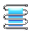 Heated towel rail isolated on white vector image vector image