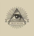 icon of the masonic symbol all-seeing eye vector image vector image