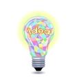 Idea as an lightbulb vector image